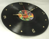 ROLLING STONES Dirty Work - Recycled Record Clock