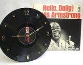 LOUIS ARMSTRONG Hello Dolly - Recycled Record Clock w/Album Jacket