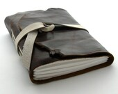 Handmade Leather Journal, The Traveler in Espresso and Chocolate