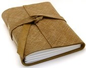 Autumn Plaid Brown Leather Journal