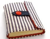 Striped Nautical Journal and Sketchbook in Red, Cream, and Blue
