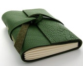 Green Leather Journal and Sketchbook, Fields of Ireland