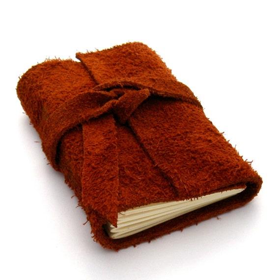 Suede Leather Journal and Sketchbook in Rust: La Petite Boheme
