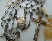 Vintage Dainty Glass Beaded Rosary