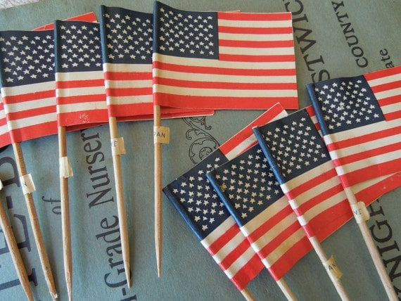 9 vintage american flag cake decorations fourth of july for American flag decoration