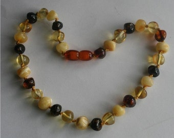 BALTIC AMBER Teething Necklace--GRANGER
