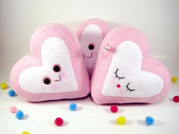One marshmallow heart plush toy