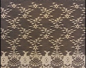 VINTAGE BRIDAL LACE Big Fat 7 inch wide Embroidered Netting Lace - Great for Bridal,Wedding, Crafts  and more...