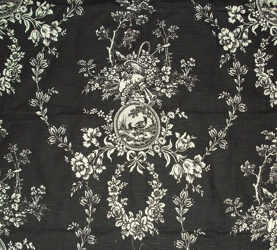 Items Similar To Classic Waverly Toile Decorator Fabric