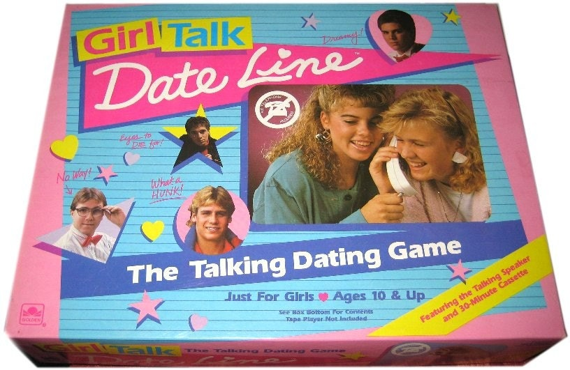 Vintage 1989 GIRL TALK Date Line Board Game by vintagewarehouse