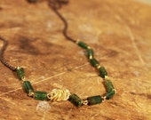 fern green and gold strand-Haden Designs