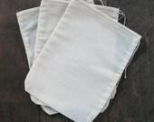 50 3x4 Natural Cotton Muslin Drawstring Bags