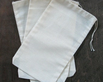 Cotton Muslin Drawstring Bags 6 x 10 10 count