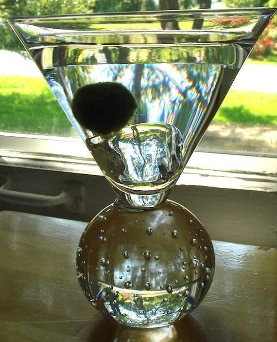 SALE Martini Marimo Moss Ball Delightful Mini Terrarium