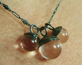 3 Lucite Ball Necklace on Antique Chain