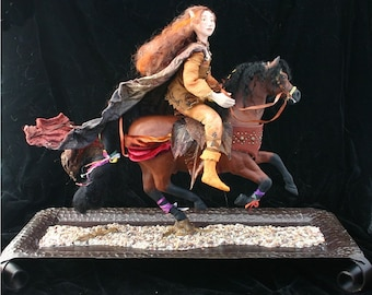 Autumn Rider OOAK Art Doll Sculpture