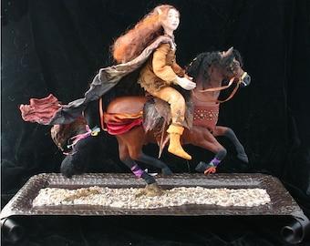 Autumn Rider OOAK Art Doll Sculpture