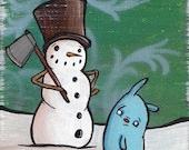 Frosty 5x7 Holiday Print
