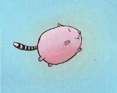 Freedom Cat 5x5 Print