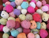 Seed Bombs in a rainbow assortment of colors - balls of handmade paper embedded with perennial and annual flower seeds to throw and grow - CUSTOM order for CLCORNELISON