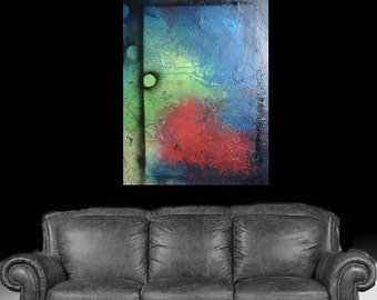 Contemporary Textured Abstract Huge Painting by Deb