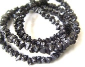 7.5inches Sparkling Black DIAMOND Faceted Chip Beads - 2.1 to 3.5mm   (ref.15030)
