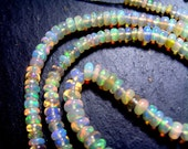 Creamy AAA ETHIOPIAN OPAL Smooth Rondelle Beads -  3.3 to 5mm, 8.5inches   (ref.16323)