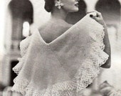 1953 Vintage Crocheted Circular Shawl PDF Crochet Pattern
