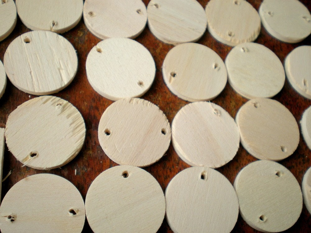 Wood discs wooden circles for crafts craft supplies by for Wood circles for crafts
