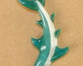 """Shark Glass Pendant ... """"Created by Tom Heath"""""""