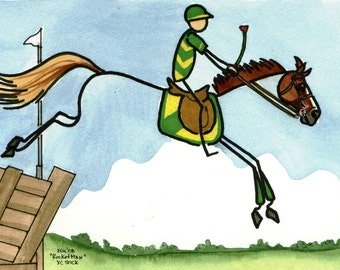 STICK Horse Eventing Cross Country ROCKET MAN Art