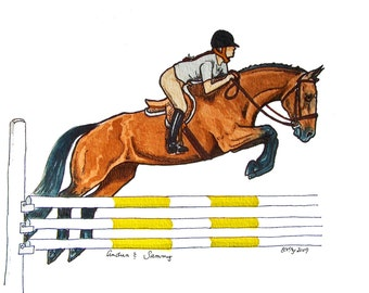 Custom Sketch of your Horse or Horse and Rider