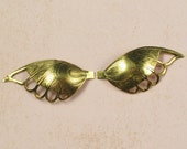 4 (2 Pair) Antique Gold Wings Angel Embellishments 292
