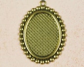 6 Antique Gold Cameo Setting 18x13 Jewel Setting Supplies 183