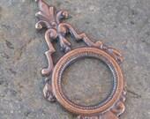 6 Antiqued Brass Earring Art Deco Drop Jewelry Finding 662