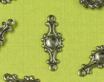 12 Antique Silver 2 Hole Connector Jewelry Findings 157