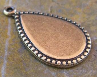 6 Brass Ox Pear Drop Dangle DIY Earring Finding 963