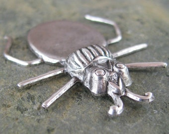 Beetle with Gluing Pad for Stone Findings 814 - 6 antiqued Silver