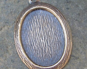 Wood Grain Cameo Setting 18x13 Antiqued Brass Jewelry Findings 1265  - 6 Pcs