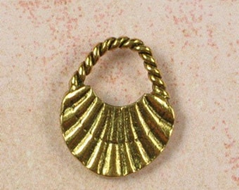 6 Antique Gold Brass Jewelry Findings Purse Charms Pendants 14