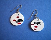 Catch and Release - Cat/Mouse Earrings