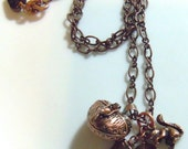 More Nuts Please Prayer Locket and Squirrel Charm Necklace and Earring Set DreHaray BHV