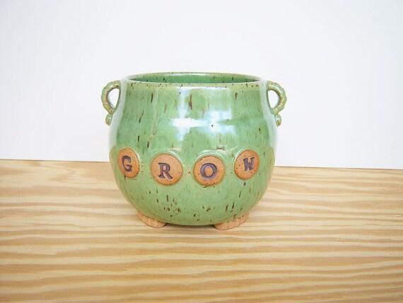Green Planter Pot - Grow
