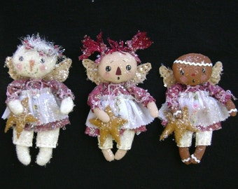 CF260 Wee Three Angels Sewing Cloth Angels Ornaments Pattern E-Pattern