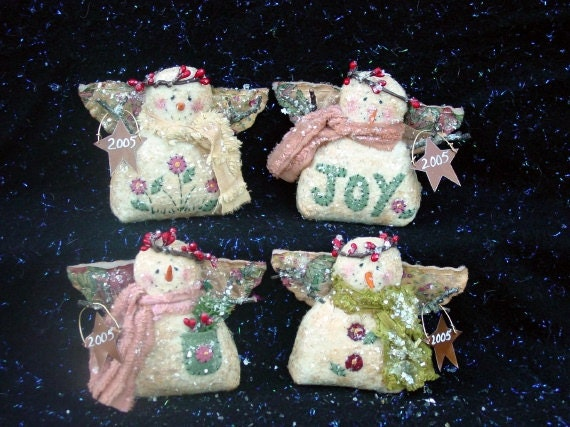 CF204 Snow Happy Foursome Snowmen Angel Doll Sewing E-Pattern PDF