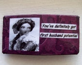 First Husband Potential:  handmade Victorian Female womens clip
