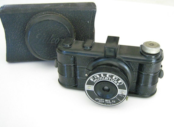 Vintage Camera Falcon Miniature with Case