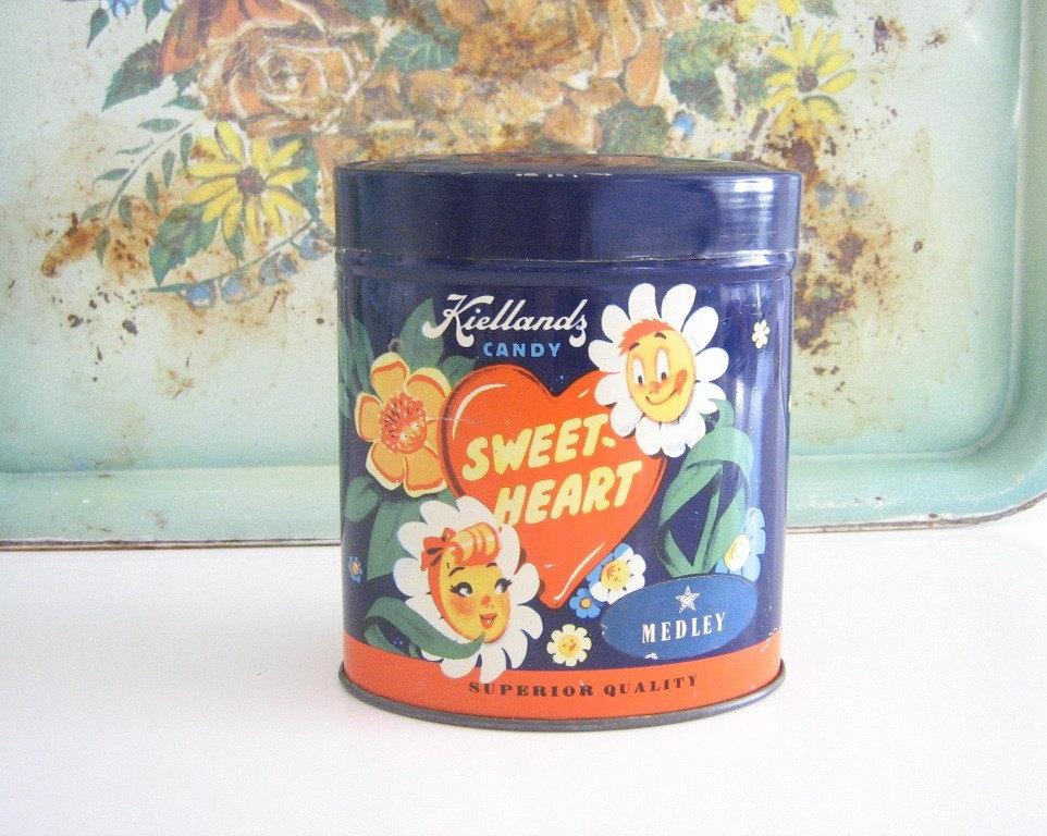 Vintage Norwegian Candy Storage Tin