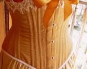 Gold Silk Corset