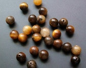 25 Tiger's Eye Beads 6mm Destash